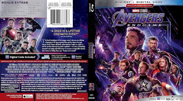 Avengers: Endgame Bluray Cover