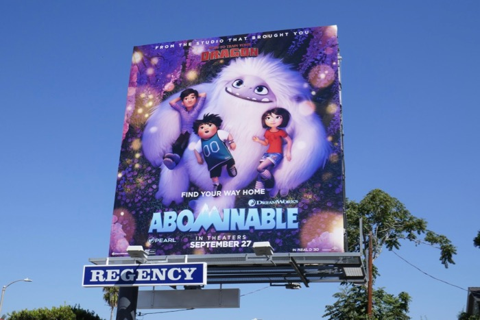 Abominable film billboard