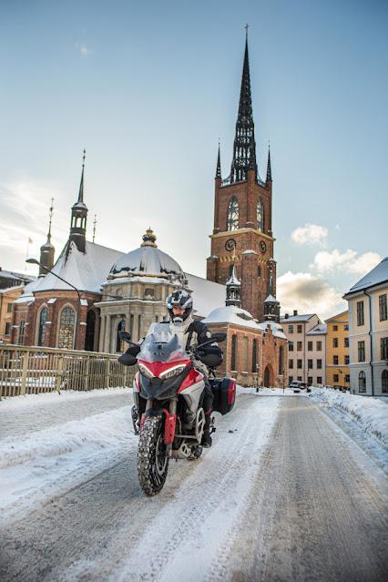 Viaggiare in inverno con la Ducati Multistrada V4