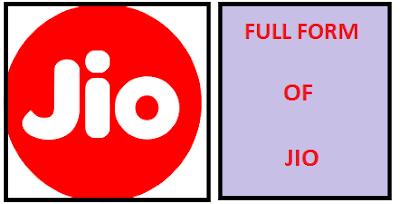 Top 10 Typical JIO Full forms | JIO का फुल फॉर्म