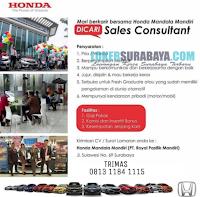 Info Lowongan Surabaya di Honda Mandala Mandiri (PT. Royal Pasifik Mandiri) Desember 2019
