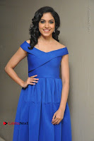 Actress Ritu Varma Pos in Blue Short Dress at Keshava Telugu Movie Audio Launch .COM 0031.jpg