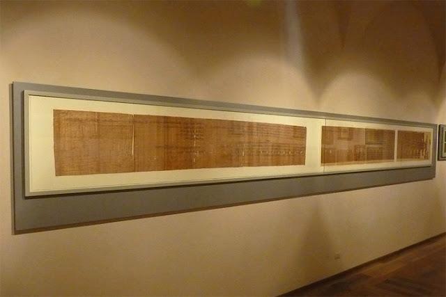 Papiro no Museu Egípcio de Turim