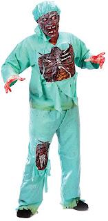 Men's Zombie Doctor Adult - Black - Standard One-Size for Halloween