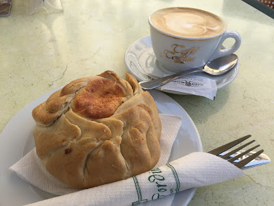 Ricotta filled pastry at Caffe Cordina, La Valletta.