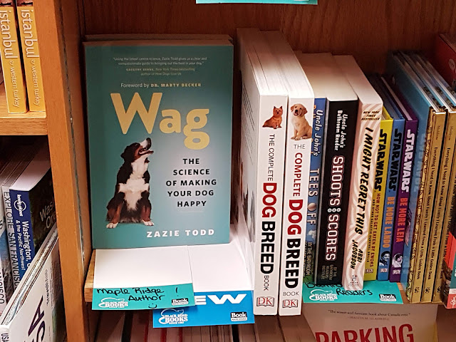 Wag pictured on the shelves at Black Bond Books in Maple Ridge, March 2020