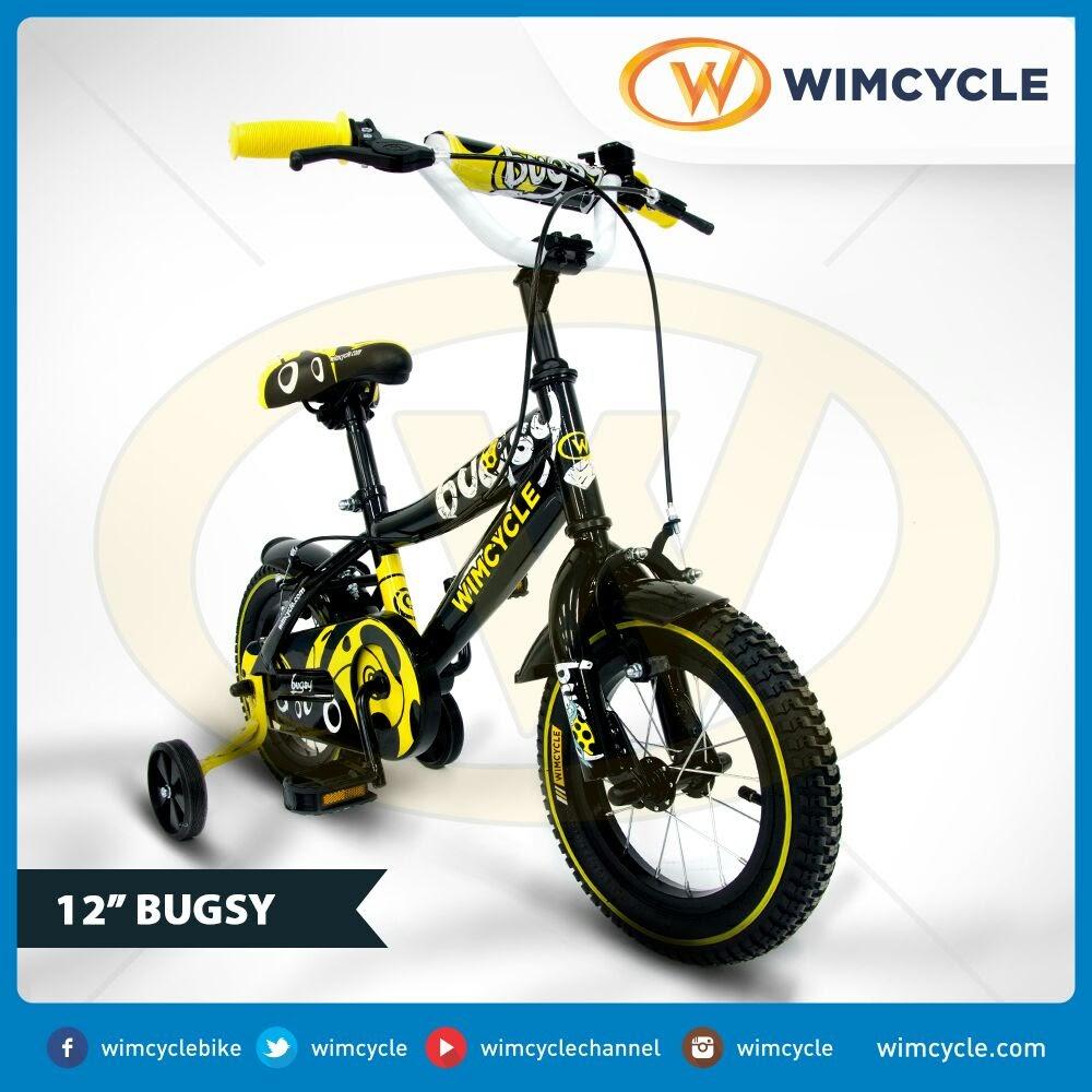 Mester Lifestyle Wimcycle Bugsy Sepeda Anak Laki Laki 12 Inci