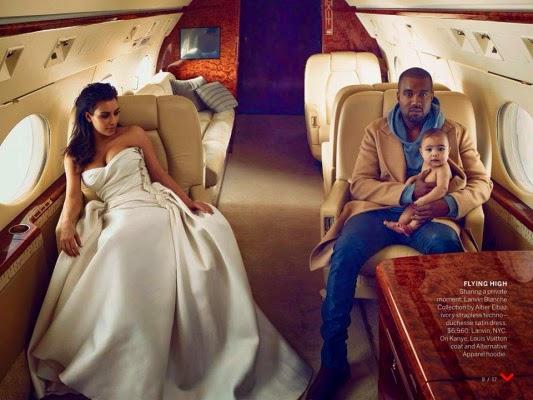 kanye west e kim kardashian na revista vogue