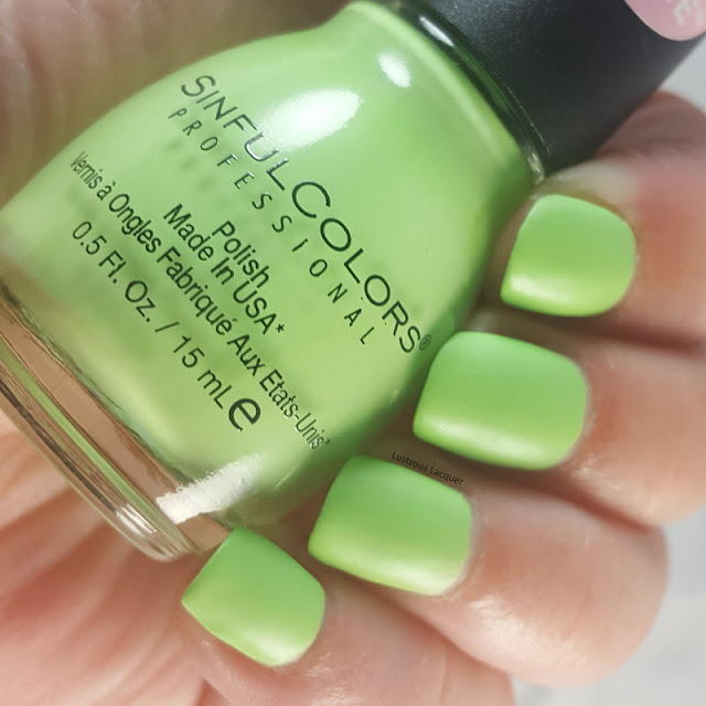 Vibrant-pistachio-Green-nail-polish-with-a-matte-finish