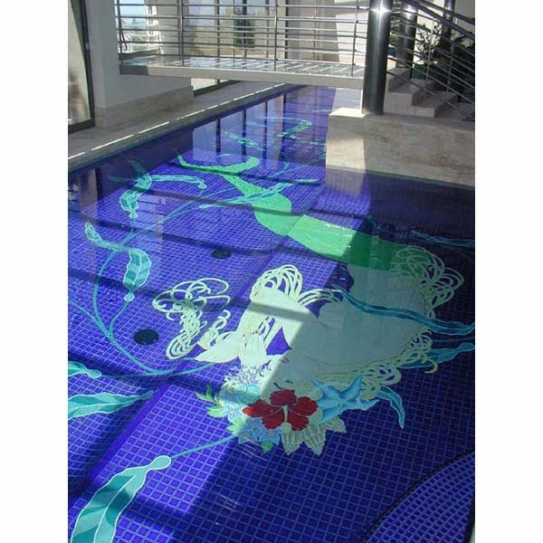 Home Plans Mermaid Glass Mosaic Swimming Pool Nuance
