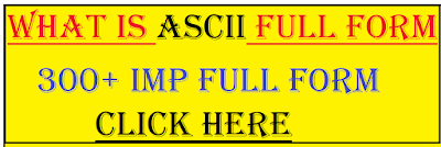 ascii full form
