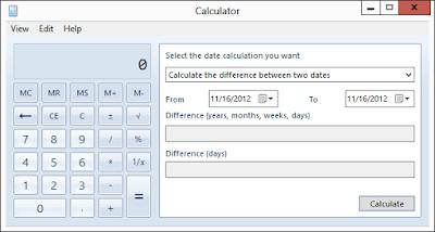 Cara Menghitung Tanggal / Hari Dengan Kalkulator Windows