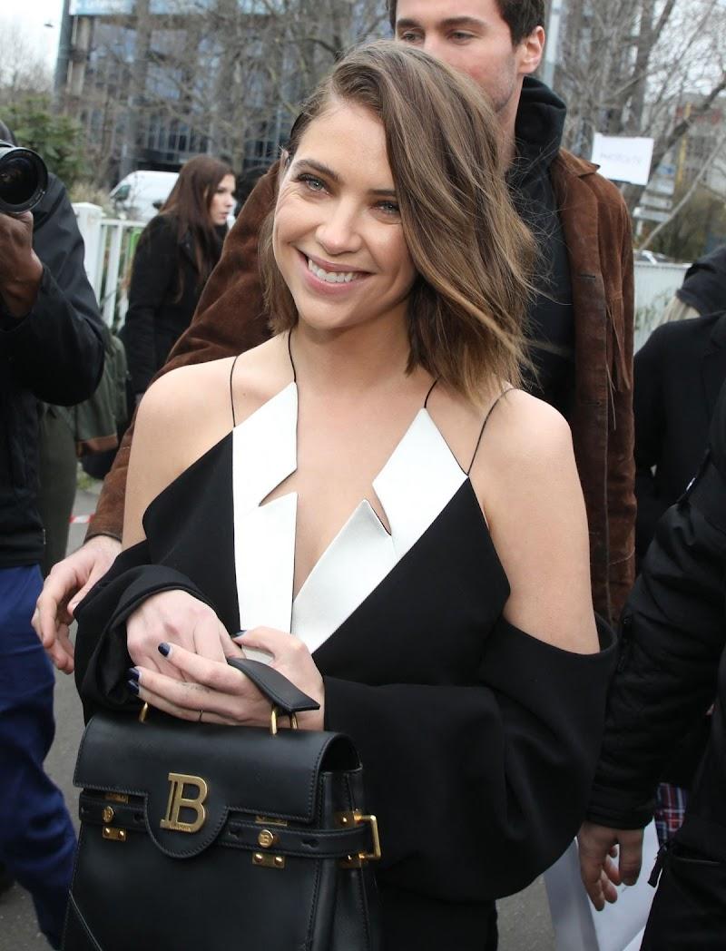 Ashley Benson Arrives at Balmain Show at Paris Fashion Week 28 Feb-2020