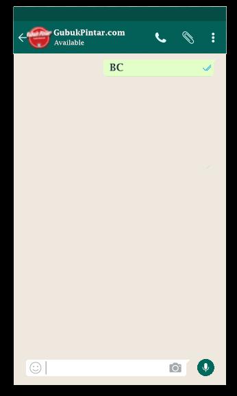 arti bc istilah dalam whatsapp
