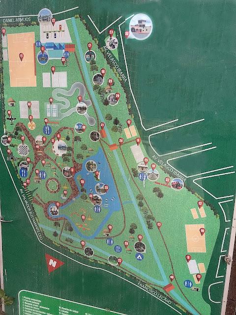Map of Jipiro Park, Loja Ecuador