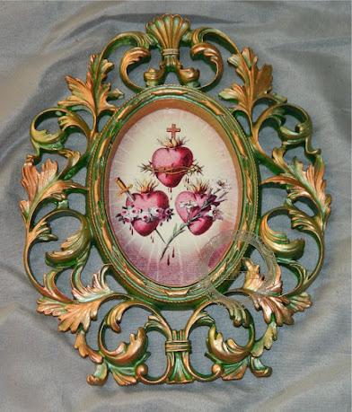 Quadro decorativo dos Sagrados Corações