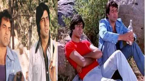 Apart-from-Dharmendra-Amitabh-Bachchan-has-also-worked-as-a-young-actor-with-Sunny-Deol