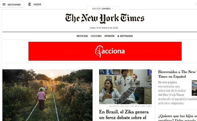 New York Times lança site em espanhol