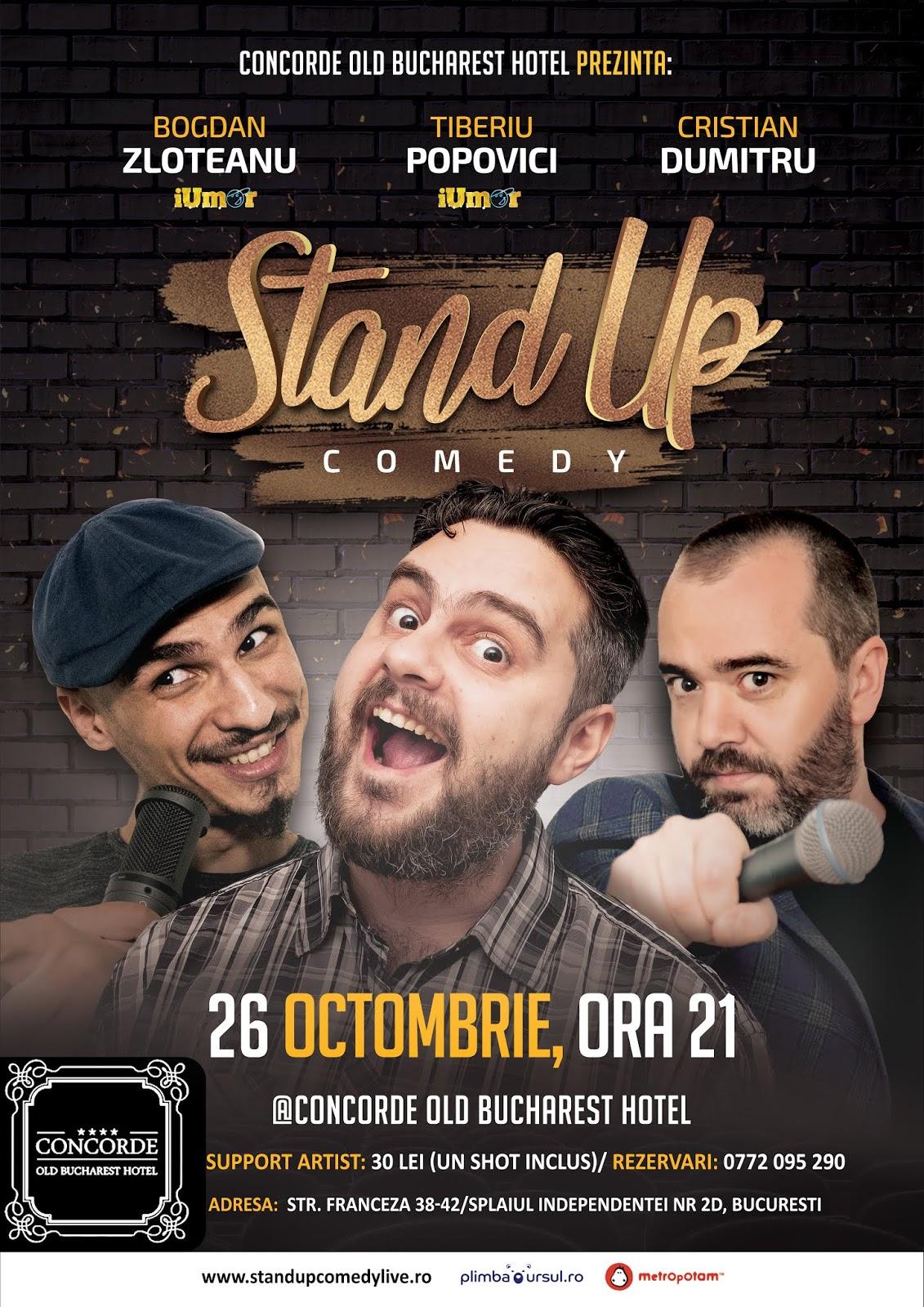 Stand-Up Comedy Bucuresti Sambata Seara