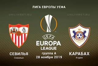 Севилья - Карабах смотреть онлайн бесплатно 28 ноября 2019 прямая трансляция в 23:00 МСК.