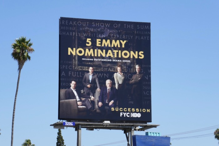 Succession 5 Emmy nominations billboard
