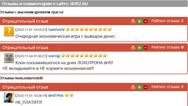 Отзывы и комментарии о сайте: drift2.biz