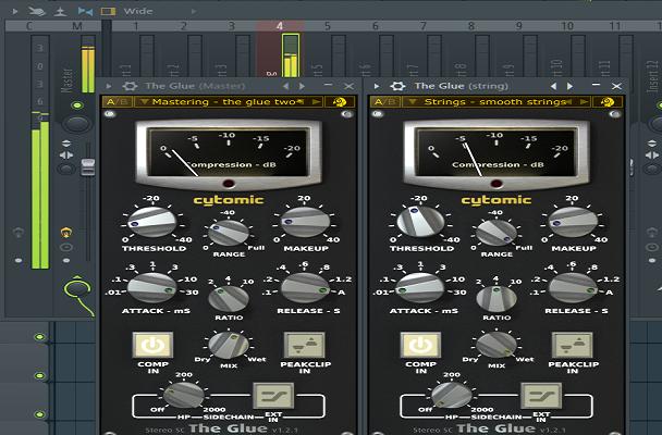 Plugin The Glue ternyata bagus buat mixing dan mastering lagu