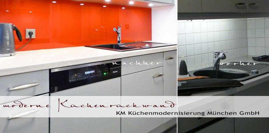 Haushaltsgeräte austauschen, Miele Haushaltsgeräte, Keramikspüle, Küche modernisieren, Küchenrückwand farbig - Glasrückwand, Fliesenspiegel, Küchenspiegell, Glas, rot,