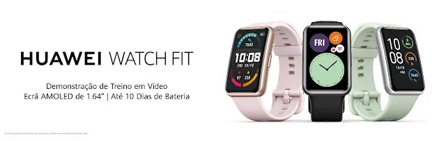 Huawei Watch Fit: o novo smartwatch com 96 modos de desporto, grande bateria e um design renovado