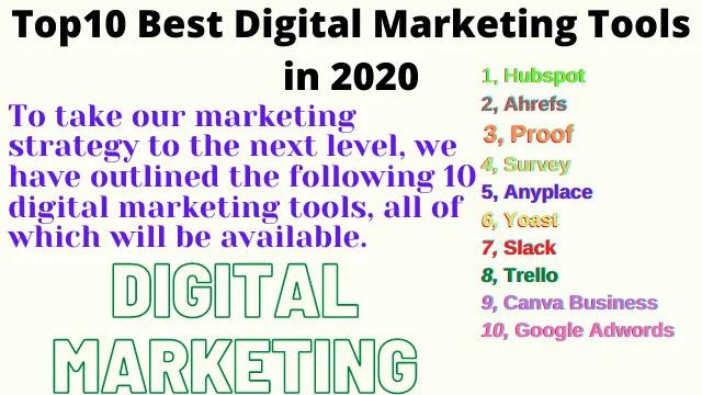Top10 Best Digital Marketing Tools in 2020