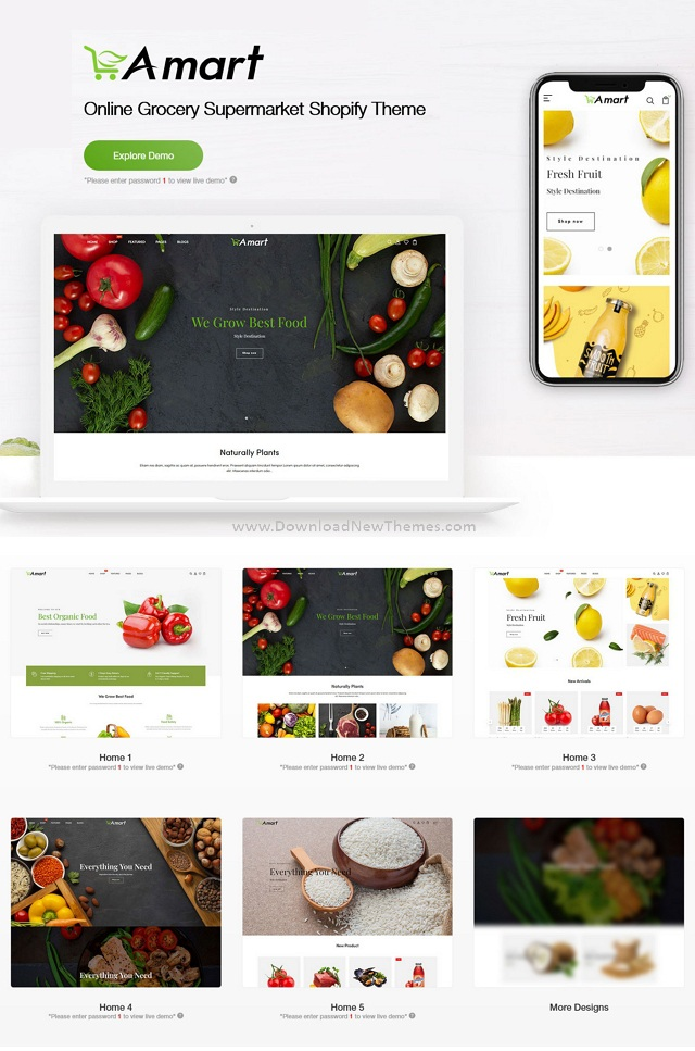 Online Grocery Supermarket Shopify Theme