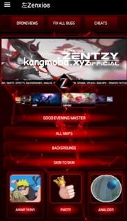 APK MOD ZenXios v1.10 (Unlock All Skin, Drone View, Background, Recall) Mobile Legends