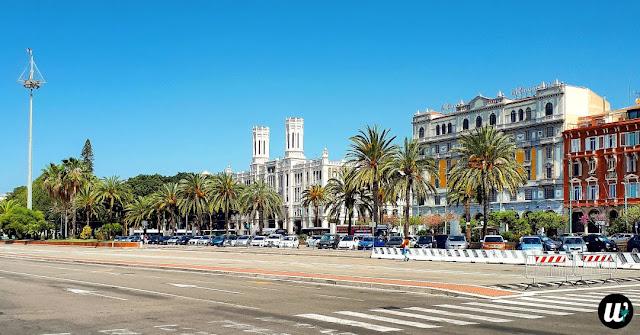 Palazzo Civico Town Hall and Via Roma street, Cagliari | Sardinia, Italy | wayamaya