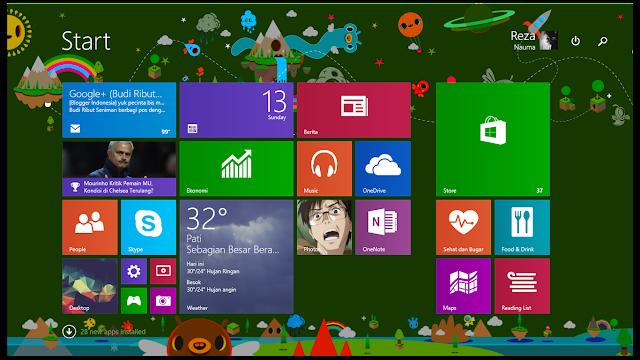 Windows 8.1 (terjadi penurunan peforma di banding sebelumnya)