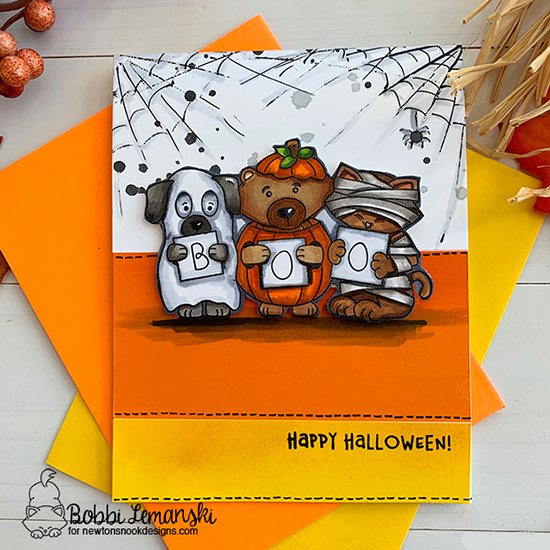 Happy Halloween by Bobbi features Halloween Trio by Newton's Nook Designs by Newton's Nook Designs; #newtonsnook