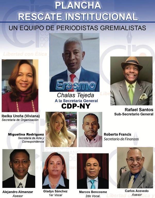 Presentan plancha filial Colegio Dominicano de Periodistas en Nueva York