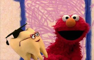 Elmo asks Wisdom Tooth some questions. Sesame Street Elmo's World Teeth Interview