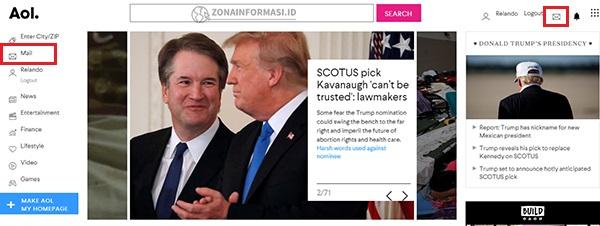 Homepage AOL
