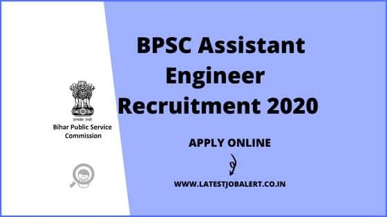 BPSC Assistant Engineer Competitive Examination 2020 online form|Apply online