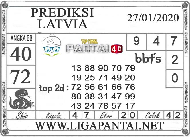 PREDIKSI TOGEL LATVIA PANTAI4D 27 JANUARI 2020