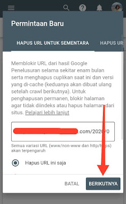 Fitur Penghapusan - Google Search Console