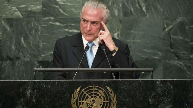 Repudio por el impeachment le persigue a Temer hasta Nueva York