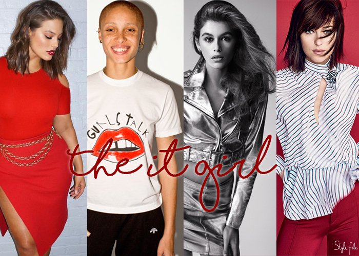 Image of hollywood models and celebrity ashley graham, adwoa aboah, kaia gerber and dakota johnson