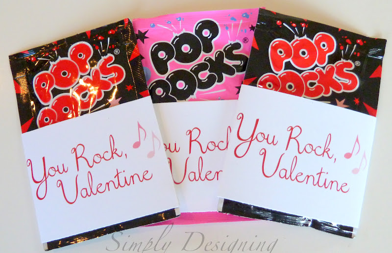picture relating to You Rock Valentine Printable called Your self Rock Valentine No cost printable