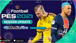 Download eFootball PES 2021 PPSSPP Update New Menu Faces Kits Camera PS5 & Latest Transfer