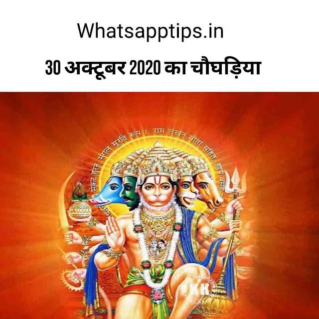 20 October 2020 aaj ka choghadiya