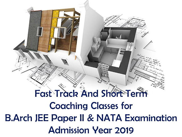 nata 2019 coaching classes and b.arch jee paper 2 classes 2019