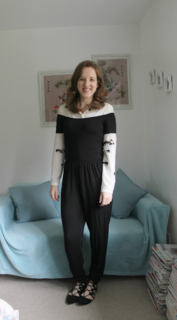 Outfit: ASOS Jumpsuit and Zara Shirt Look, ASOS, Zara, Shirt, Jumpsuit, Black Jumpsuit, Print Shirt, Outfit, Outfit Of The Day, Fashion, Fashion Blogger