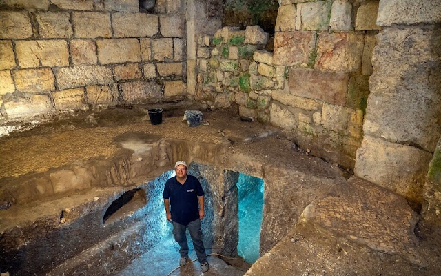 2,000-year-old subterranean system hewn from bedrock discovered under Jerusalem's Western Wall