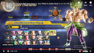 XENOVERSE 2 DlC PACK 9 OR UPDATE VERSION 1.12 OR EXTRA PACK 5 PART 3